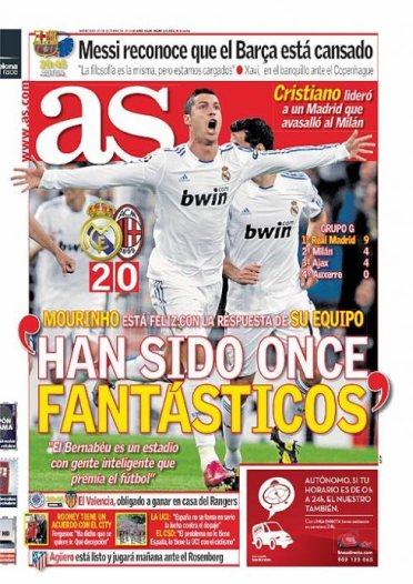 Portada diario As 20.10.2010