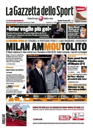 Gazzetta dello sport 20.10.2010