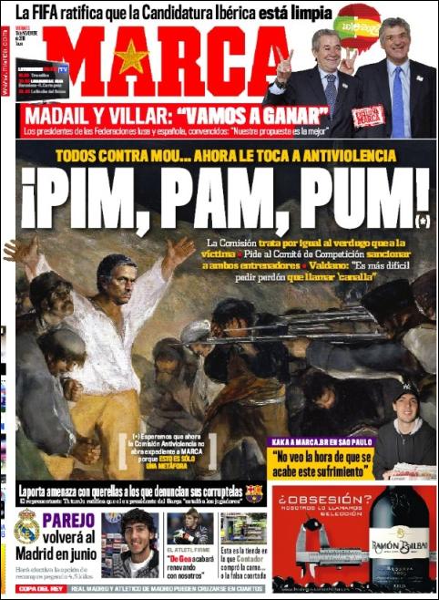 "Portada Marca 19.11.10: ""Todos contra Mou"""
