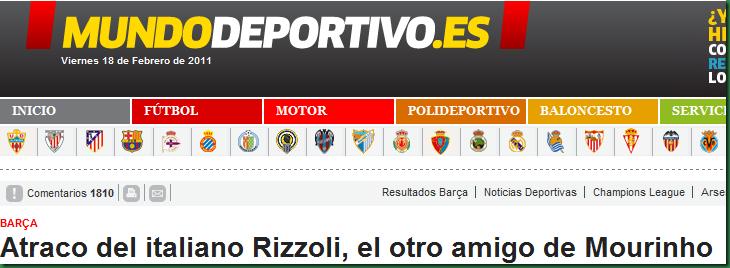 Atraco al Barcelona por Mourinho