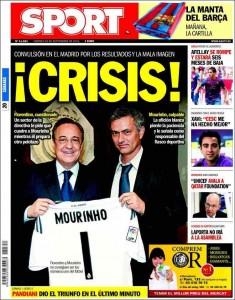 Portada Sport - Crisis en el Real Madrid
