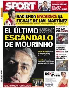 Portada Sport - El último escándalo de Mourinho