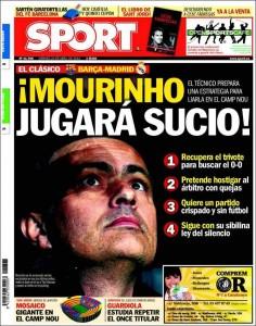 Portada Sport - Mourinho jugará sucio