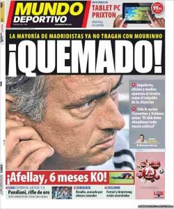 Portada Sport - Mourinho quemado