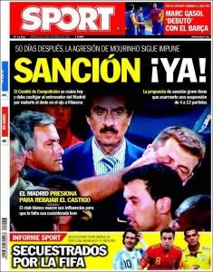 Portada Sport - Sanción para Mourinho