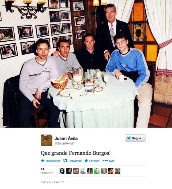 FernandoBurgos comiendo con IkerCasillas
