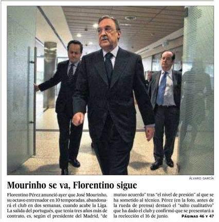 Portada.El.País.Salida.Mourinho