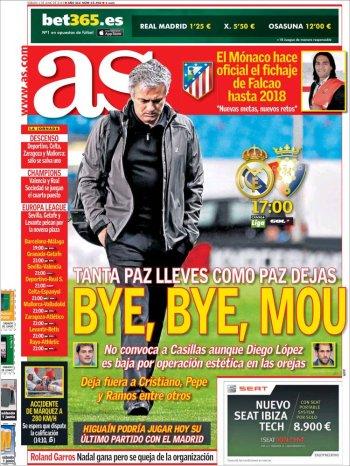 Portada AS último partido Mourinho