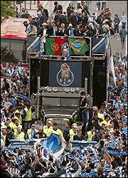 Autobús celebración Champions League Oporto