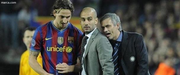 Guardiola, Mourinho y Ibrahimovic