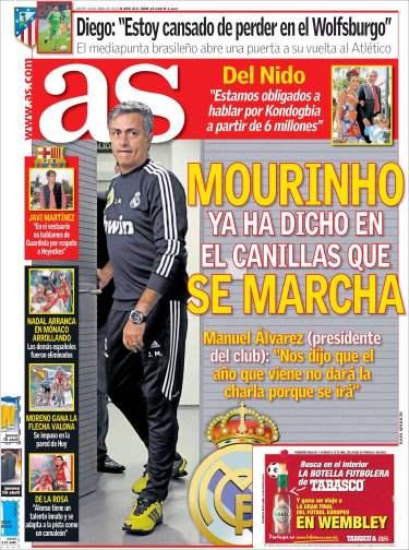 Diario AS Mourinho se marcha
